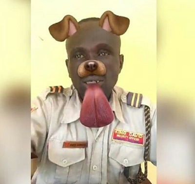 Lmao See What Snapchat Dog Filter Did To This Security Officer Dog Filter Snapchat Dog Filter Dogs