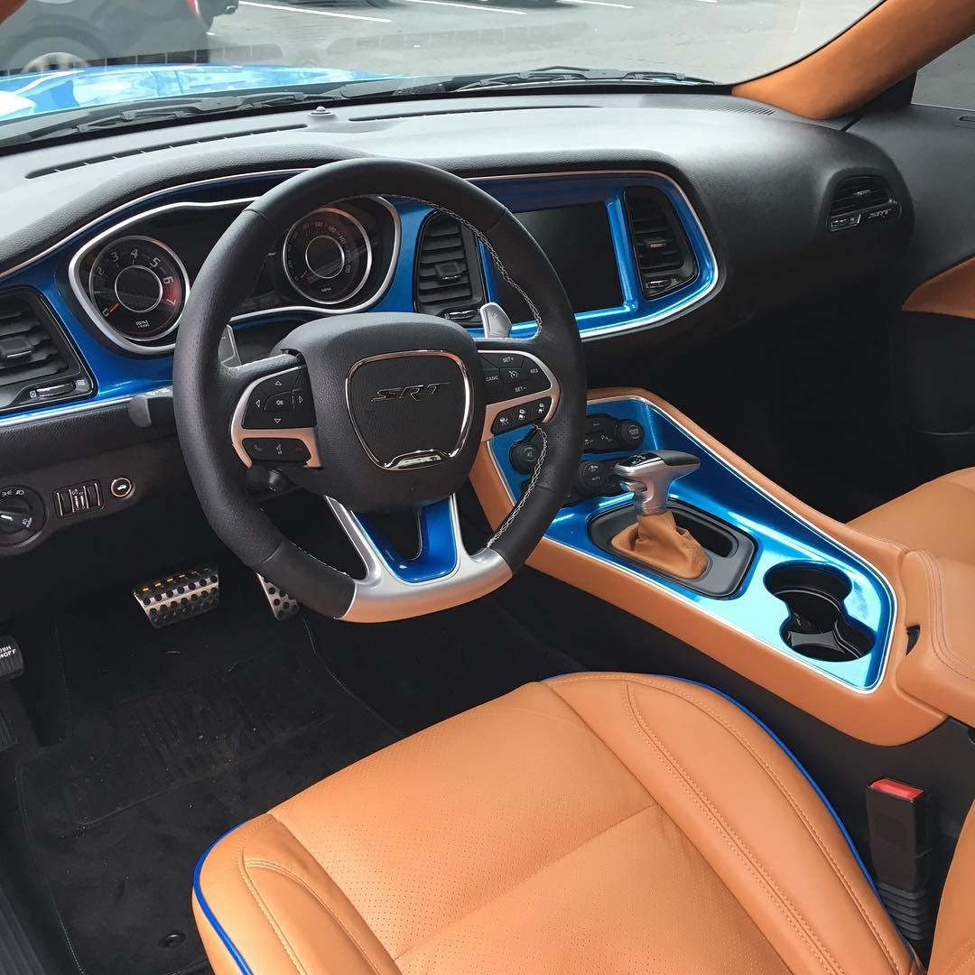 Added A Touch Of Color To The Interior Of This Dodge Challenger SRT. #dodge