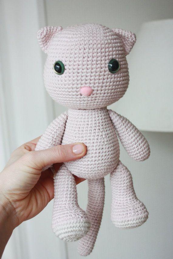 Amigurumi Crochet Cat Pattern Pdf Tutorial Instant Download