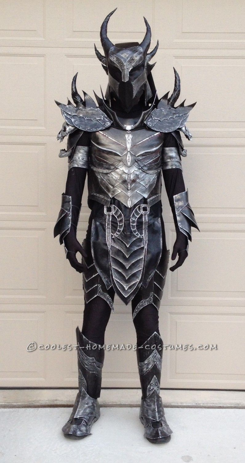 the elder scrolls: skyrim homemade daedric armor costume | coolest