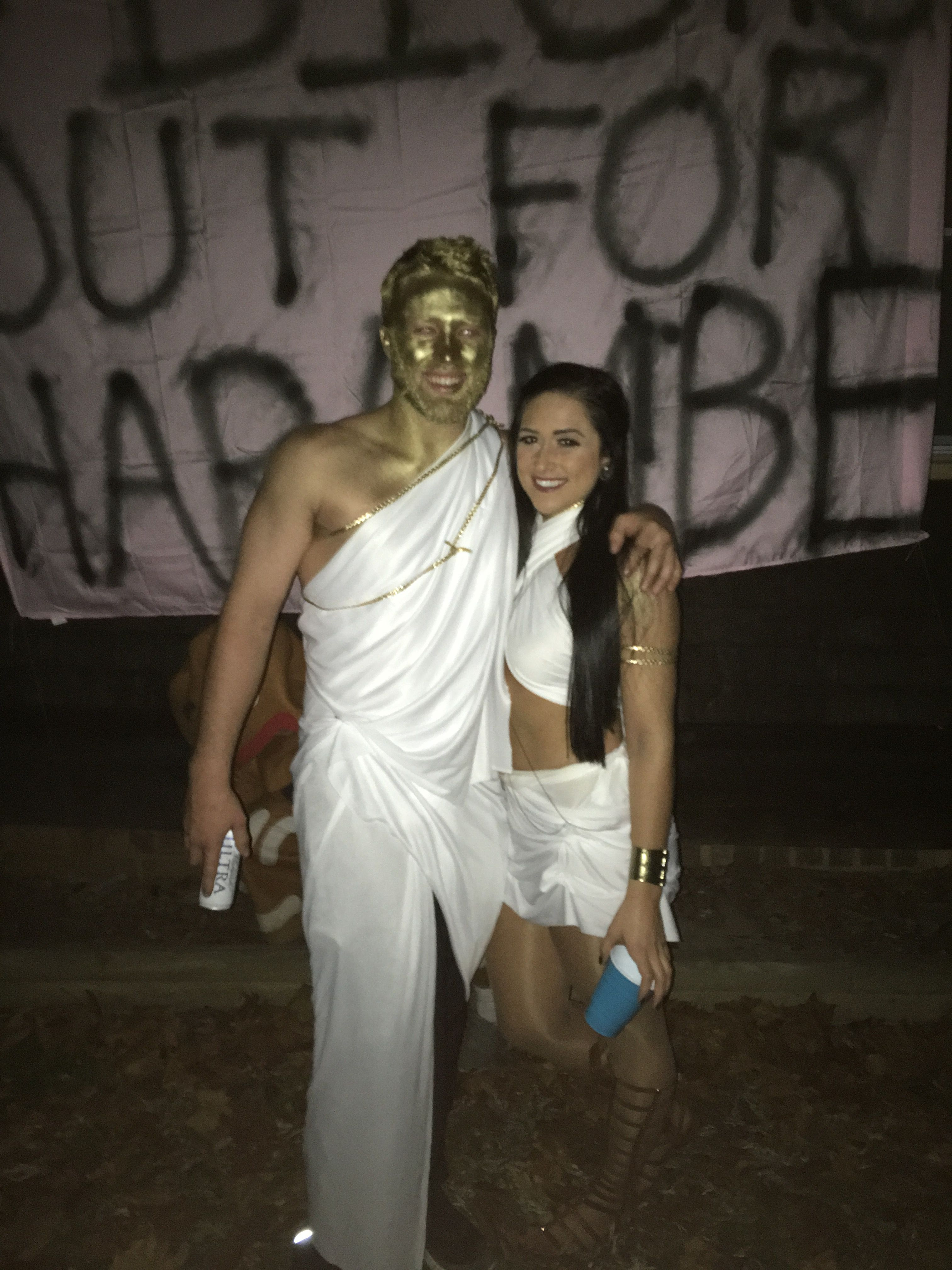 Greek God Goddess Inspo Couple Costume Halloweenie