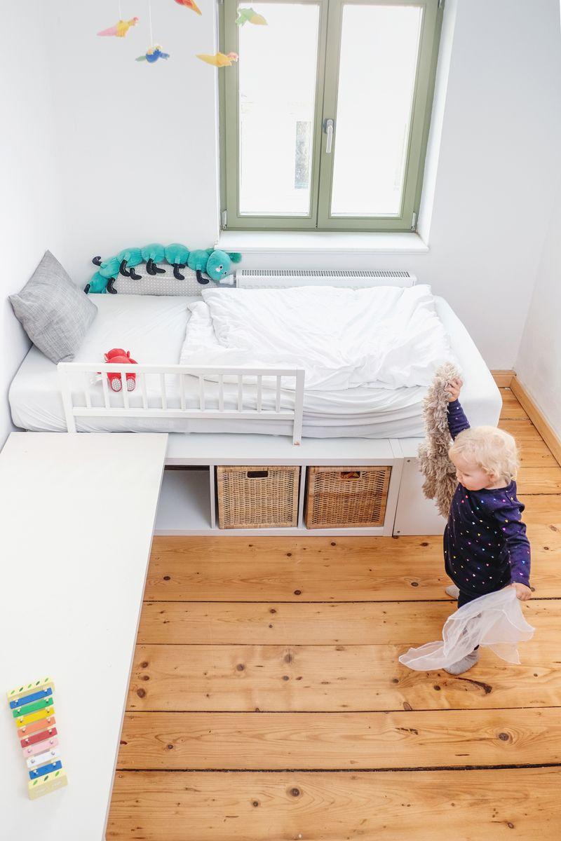 Hochbett bauen für Kinder Ikea Hack Hochbett selber