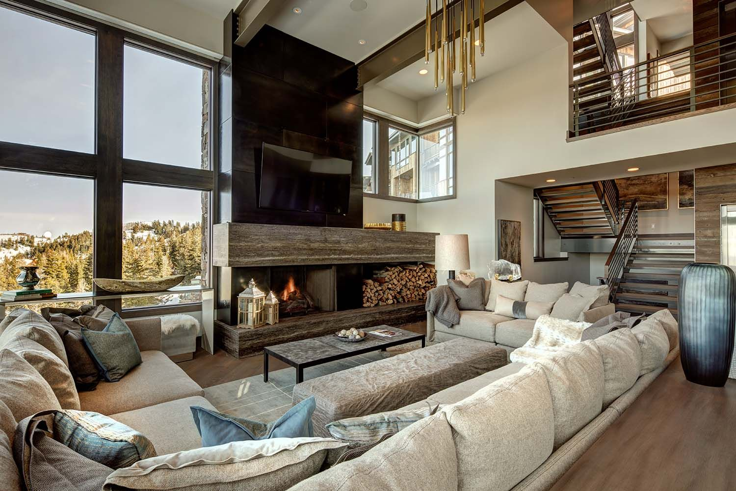 Mountain Modern Home In Park City Lets You Ski To Your Door Modern Mountain Home Contemporary House Modern House