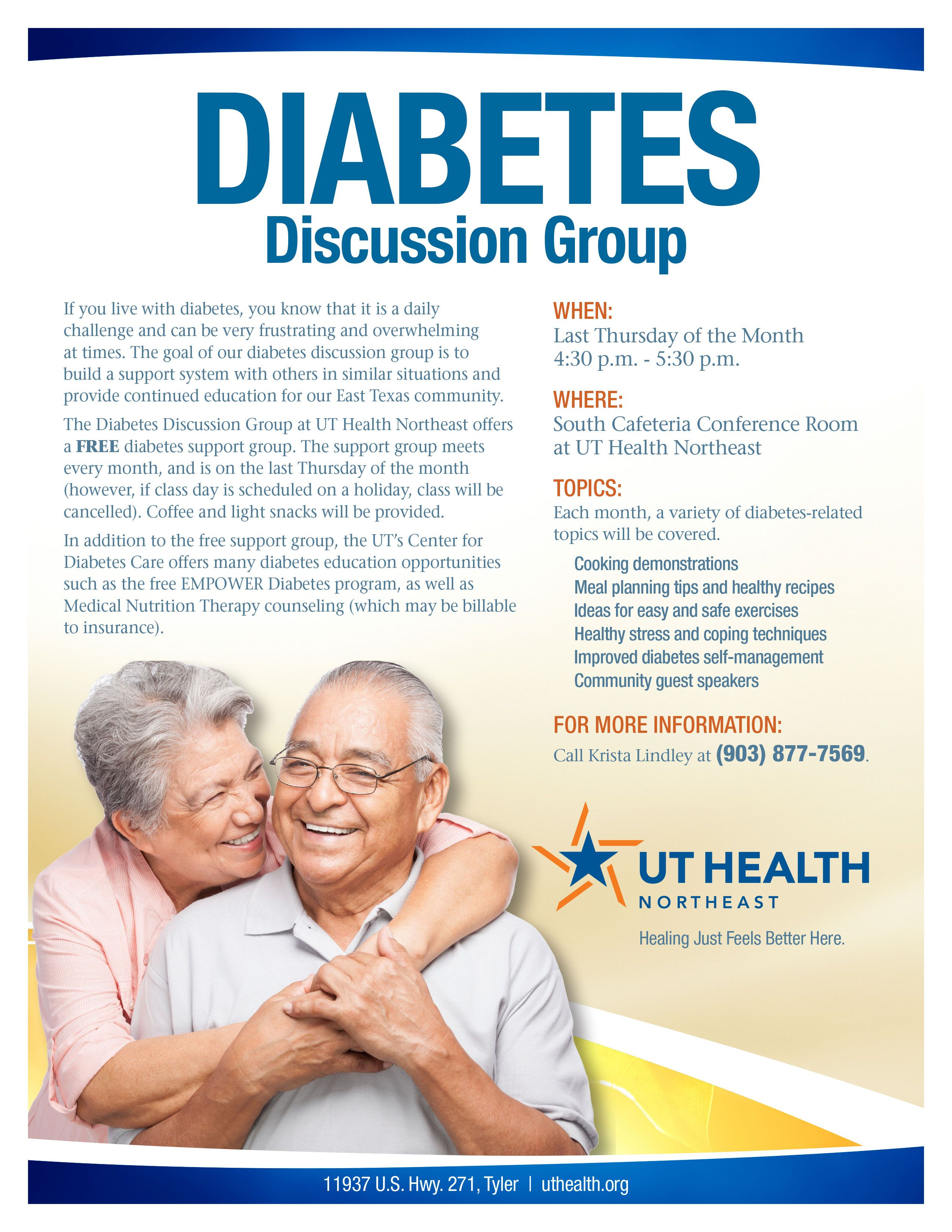 Diabetes Discussion Group UT Health Northeast Tyler