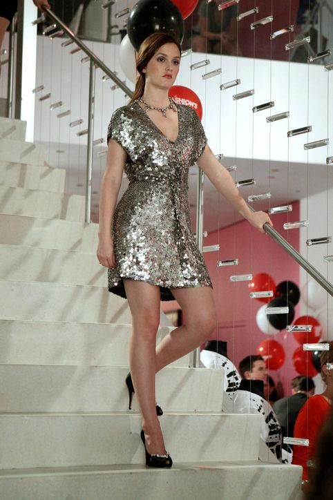 As Blair Waldorf, Leighton Meester Rocked Some Epic Party Dresses On Gossip  Girl (including This Sparkly Silver Mini). Come See Similar Styles We Want  To ...