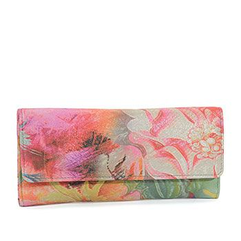 Hobo Bags│ Handbags, Wallets, Accessories, Sadie - Abstract, painted floral, Accessories : Wallets : Continental, VI-32059PAIF
