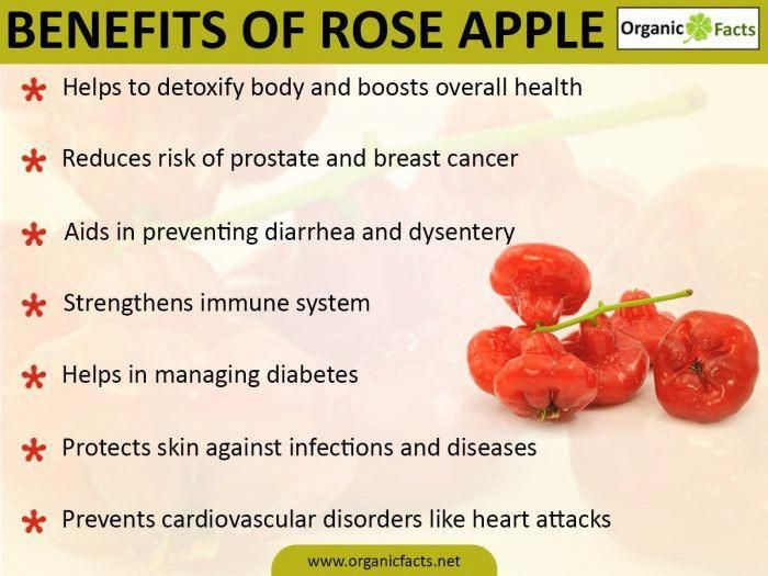 Health benefits of rose apple infographic
