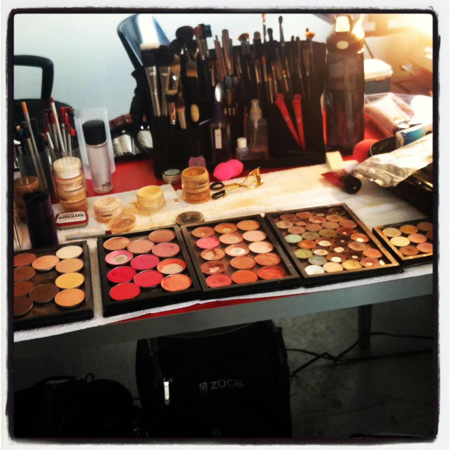 My Kit Set Up For A Photo Shoot Tpfcosmetics Com Products And