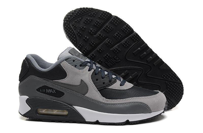 lowest price 81b9b a8353 Nike Air Max 90 Homme Gris Nior Vendre21.9009