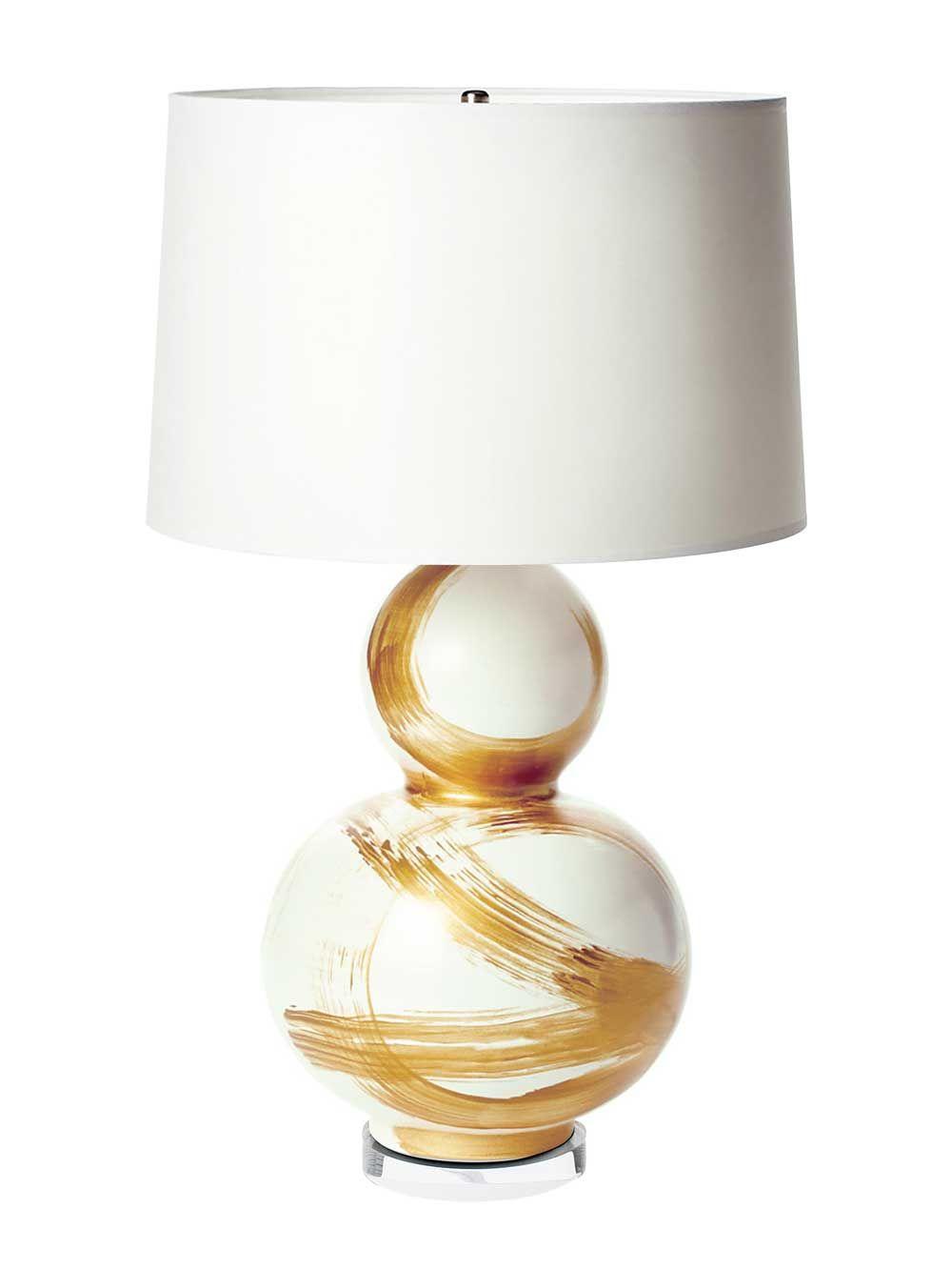 Gold Brushstroke Lamp Modern Lamp Shades Old Lamp Shades Pottery Barn Lamp Shades