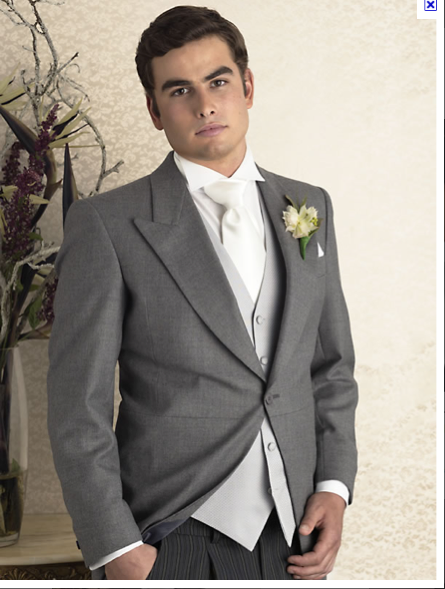 Bride & Groom, Wedding, Grey Suit, White Tie, Groomsmen. | Our ...