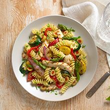Grilled Chicken and Veggie Pasta Salad   GOYA