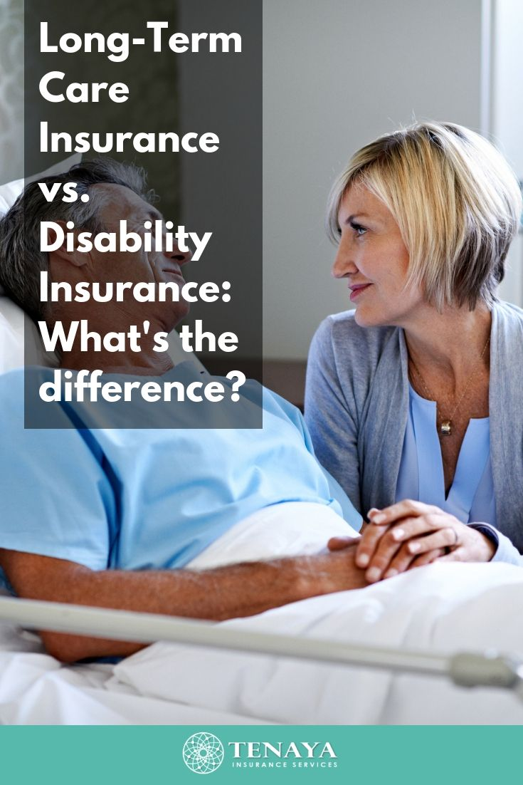 Longterm care insurance vs disability insurance whats