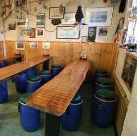 One of the best meals in Reykjavik, Iceland -  the Sea Baron, an old fisherman hut in the old port
