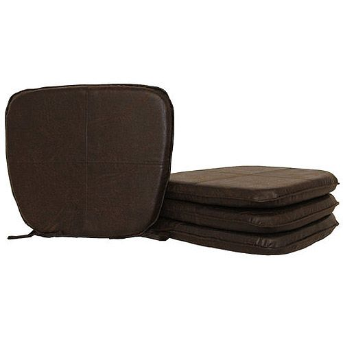 Exquisite Black Leather Dining Chair Cushions