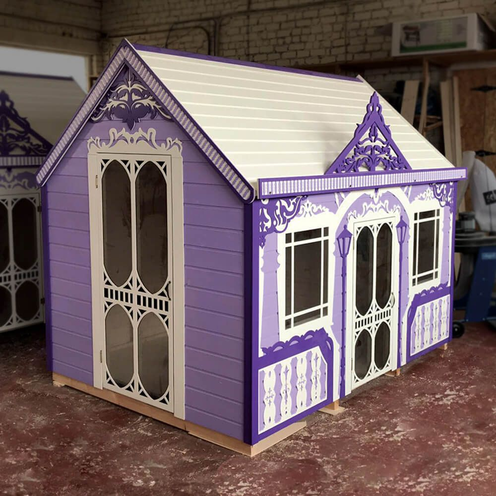 Kids Playhouse Classy Vicky Wooden Indoor Playhouse