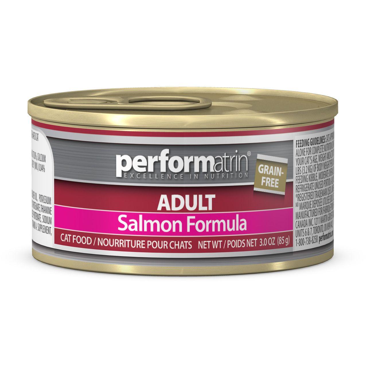 Adult grain free salmon formula cat food 3oz case of 24