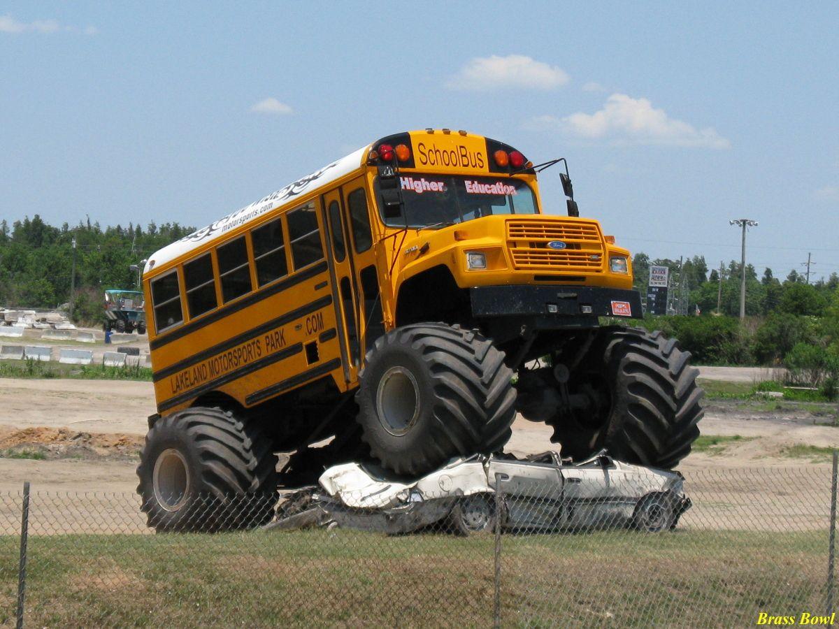 Monster Truck Girls | Monster Truck School Bus