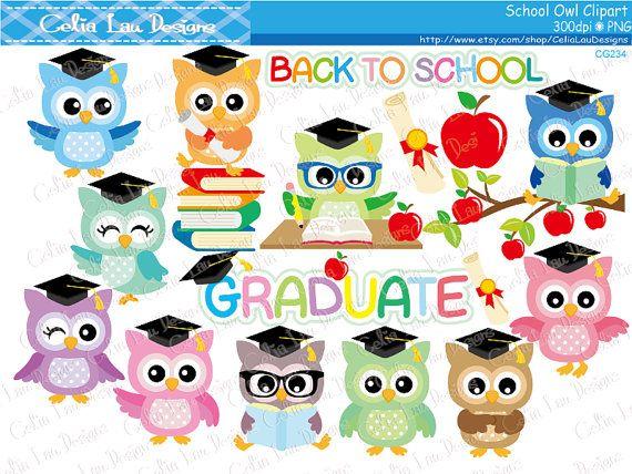Back to school owl. Owls clipart graduation clip