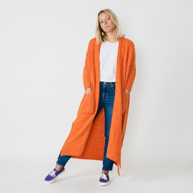0c00c70ac3 American Vintage Malawood Orange Long Cardigan