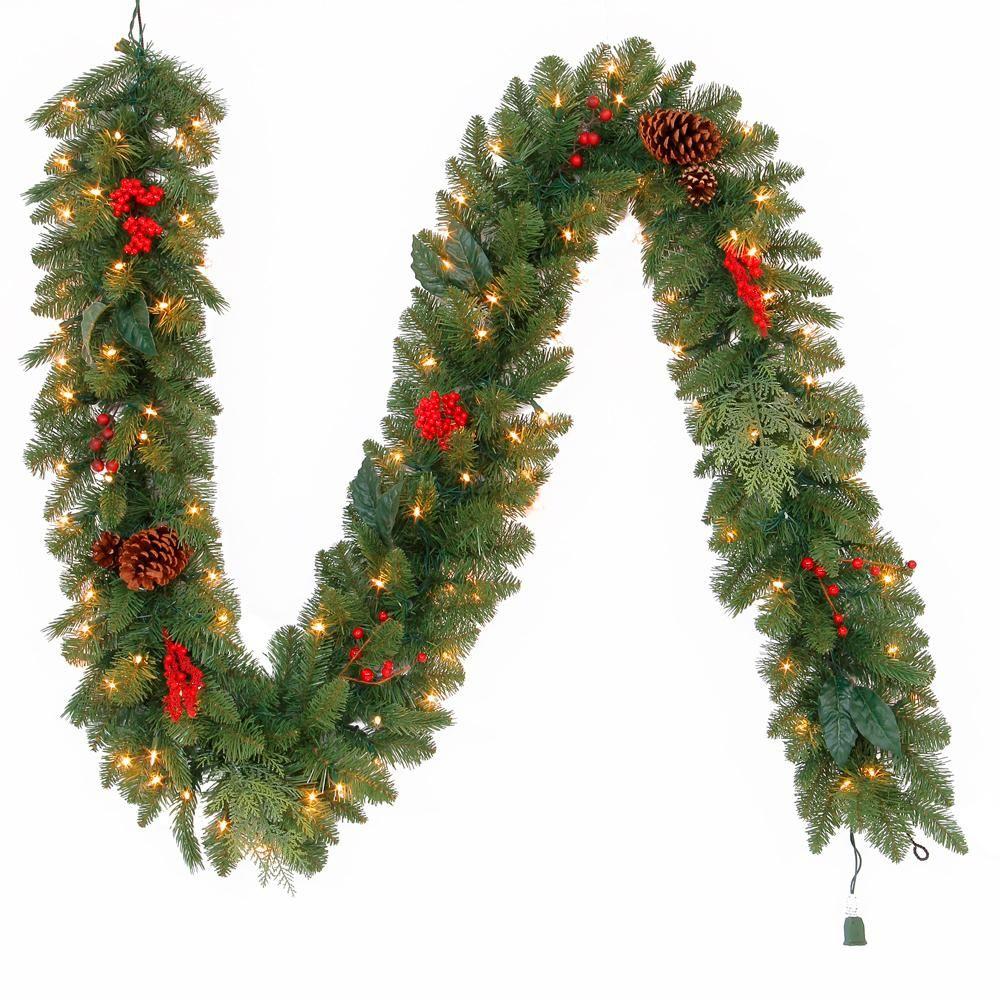 Martha Stewart Living 9 Ft Pre Lit Artificial Winslow Fir Christmas