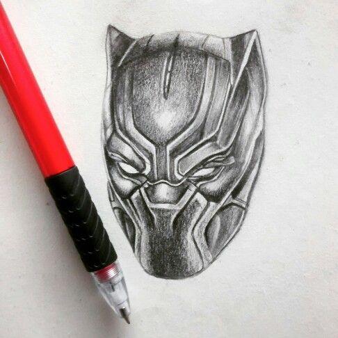 Black Panther By Bhavesh Kalma Ahmedabad Gujarat India Sketch