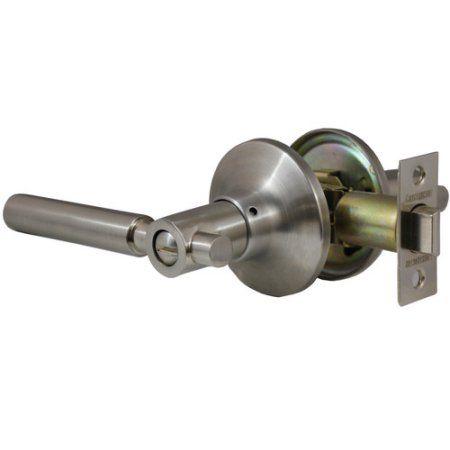 Constructor Rondo Privacy Door Lever Handle Lock Set For Bedroom And Bathroom Satin Nickel Finish Multicolor Door Levers Bronze Door Handle