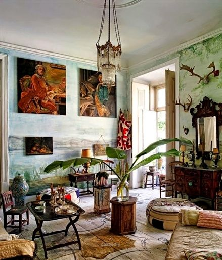 Bohemian homes interior design sitting room eclecticg pixels vintage home decor also rh pinterest