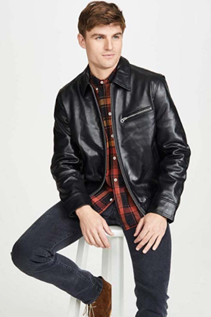 Rag Bone Men S Leather Garage Jacket Leather Men Jackets Men