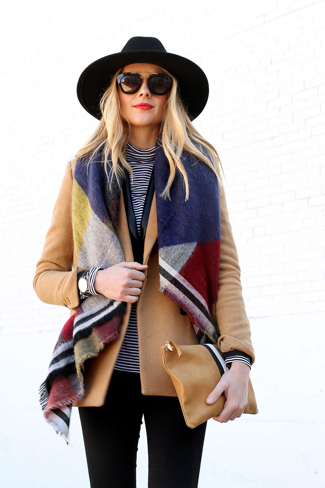 COLORBLOCK BLANKET SCARF Fashion Jackson Fashion