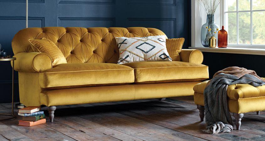 Design Ideas With A Gold Sofa