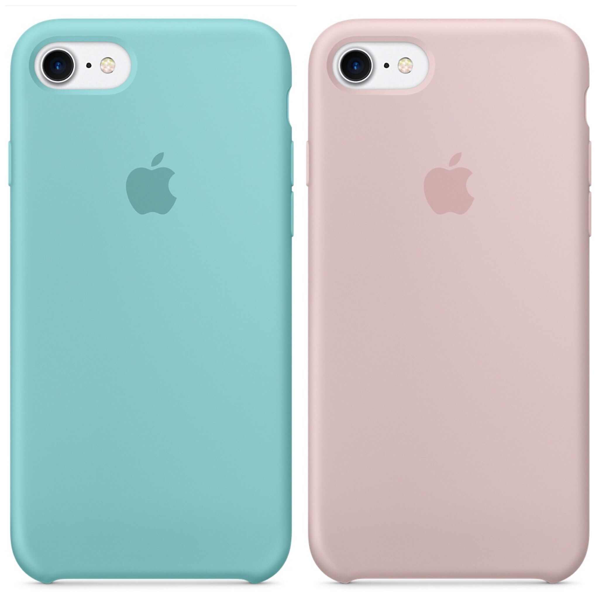 Apple Silicone Case for iPhone 7 ~ Sea Blue   Pink Sand  15d0cdc4641db