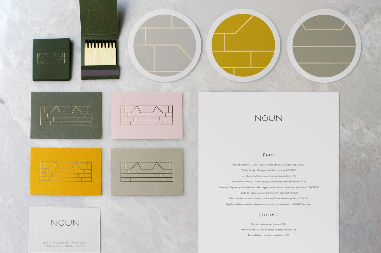noun restaurant identity branding brand logo deluxe luxury visual corporate design best graphic modern minimal simple clean beauty beautiful mindsparklemag mindsparkle www.mindsparklemag.com restaurant bar food marble gold golden print business card Noun restaurant branding  http://mindsparklemag.com/design/noun-restaurant-branding/