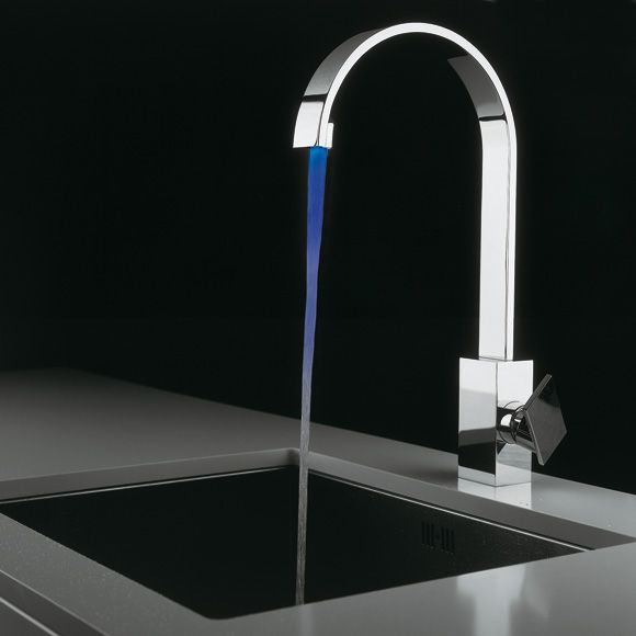 newform d-rect single lever kitchen mixer with integrated light ...