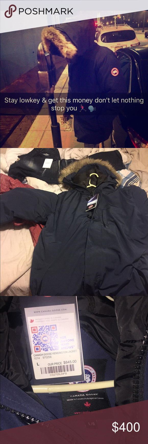 Canada Goose coat Goose coat , size large & still have tags & receipt , Fast