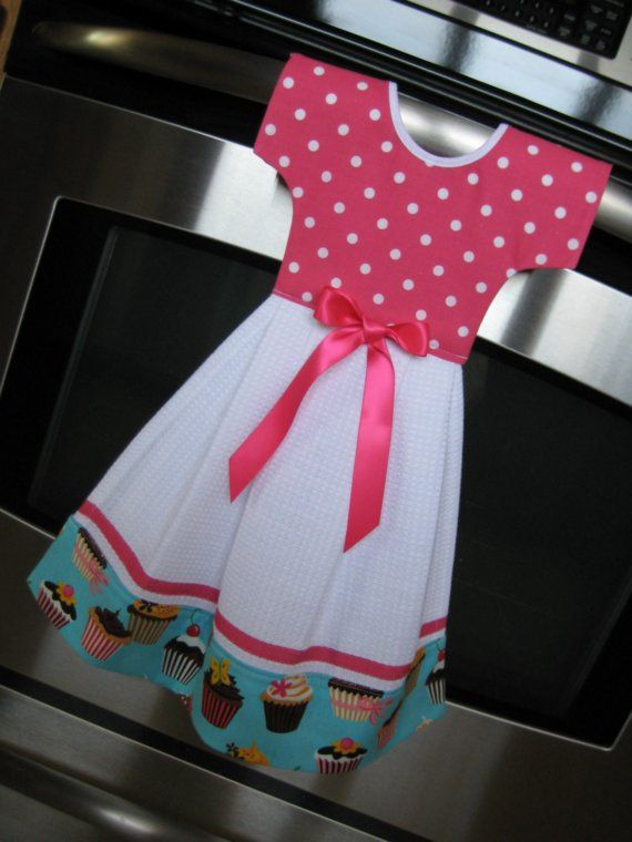 towel for kitchen hotel with dress patterns dish oven door sweet tooth cupcake retro collection