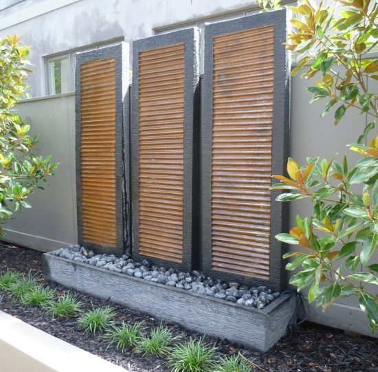 Shiny Louver Copper Insert Tower Tower Water Features