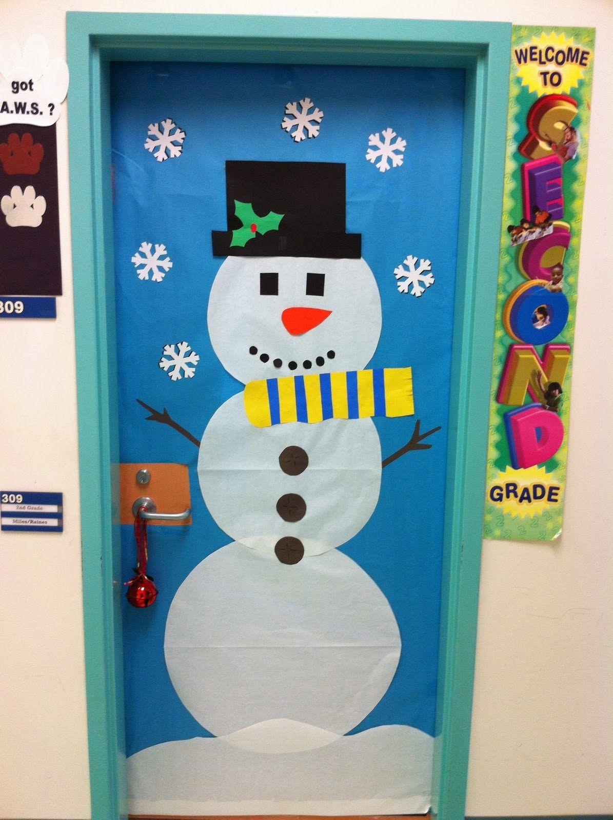 Ideas Para Decorar Puertas En Navidad.Ideas Para Decorar Puertas Escolares En Navidad Decoracion