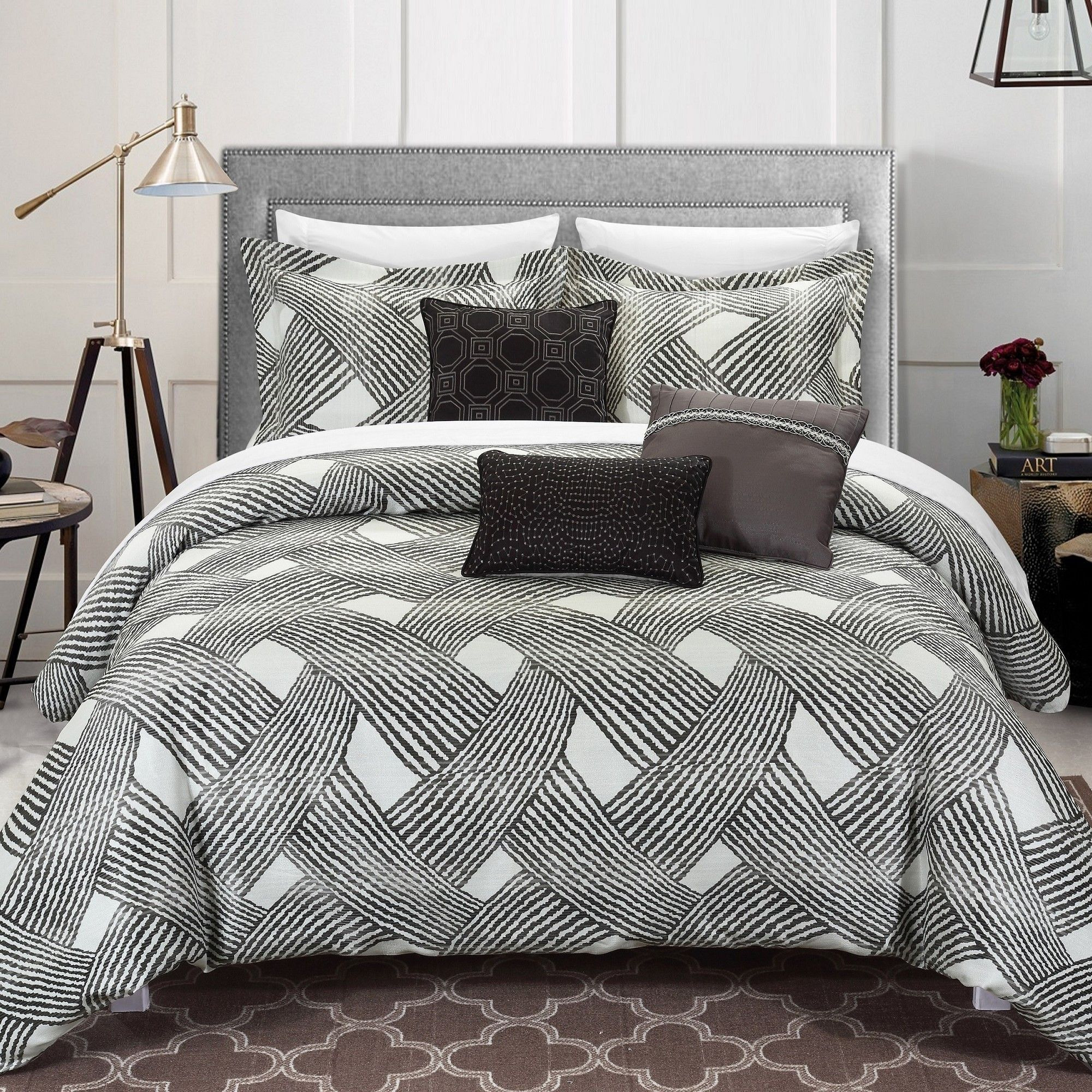 Fiorella Comforter Set Comforter Sets Complete Bedding Set Contemporary Bedroom Decor