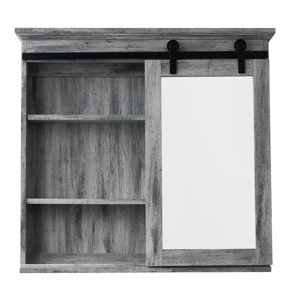 Glacier Bay 31 In X 29 In Barn Door Medicine Cabinet Sp5675