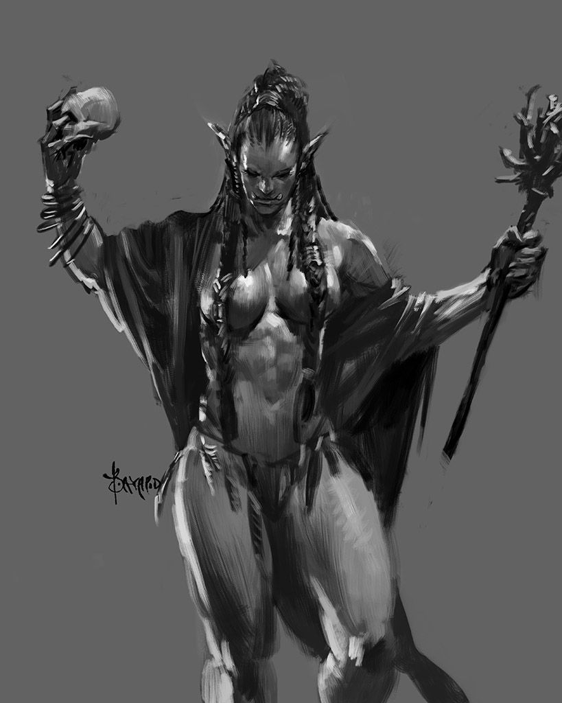 Pity, that half orc male naked your