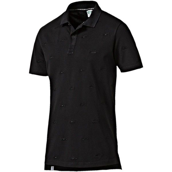 Puma Suede Embroidery Polo Shirt ($45) ❤ liked on Polyvore featuring men's  fashion,