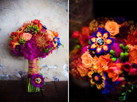 The bridal bouquet was a bright textural masterpiece that