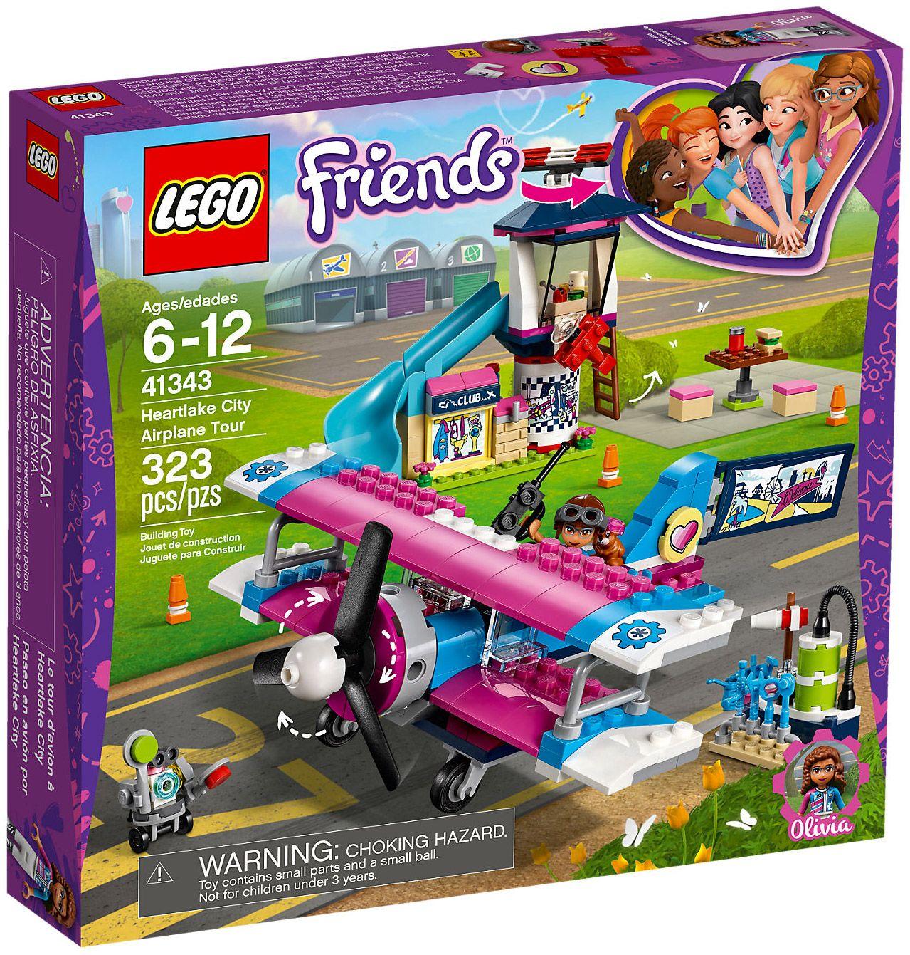 Lego Friends 41343 La Visite En Avion Dheartlake City Lego Lego