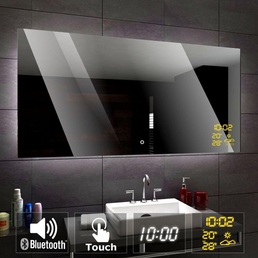 Details Zu Dubai Badspiegel Mit Led Beleuchtung Wandspiegel