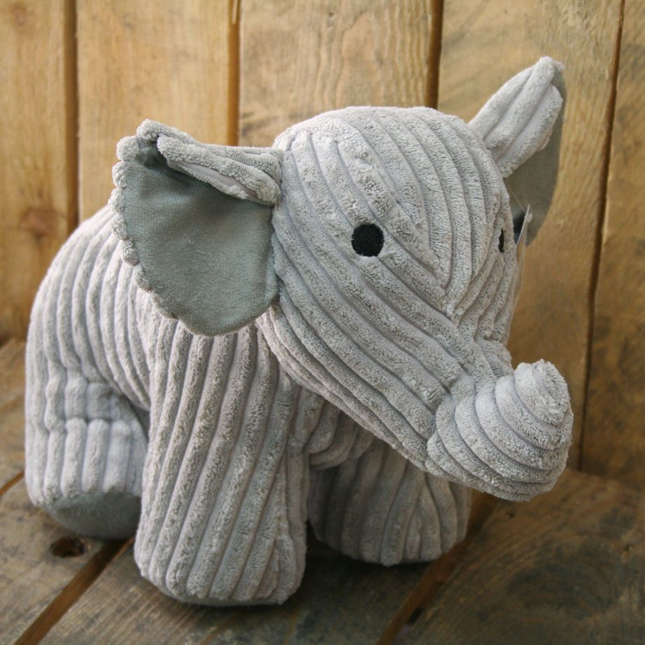 Take Me Home Doorstop Ribbed Fabric Elephant Door Stop | Doors ...