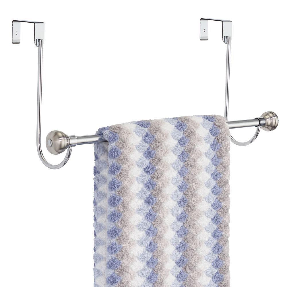 Metal Over Shower Door Towel Bar Rack For Bathroom Shower Doors Hanging Towels Towel
