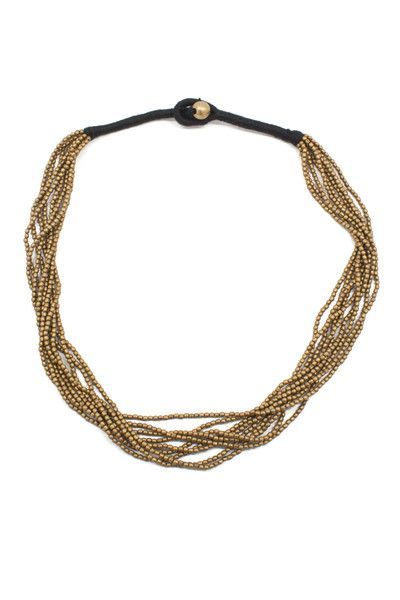 Taranatha Necklace - layers of beaded strands and balanced with a sophisticated wrap closure. www.mooreaseal.com