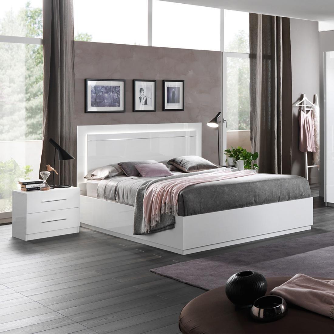 City/Star Modern Italian 6 Piece Bedroom Set White Gloss