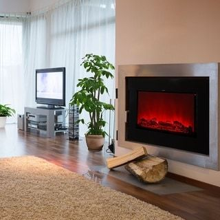 Description: Why Choose Ainfox Electrical Fireplace Stove with Heater: Wall mounted fire with log frame effect, Black flat tempered glass front panel, Remote control including on/off, heat setting and dimmer LED light inside. Alternative manual control panel on fire, the Flame effect can be used independently, Adjustable flame brightness, open 10 different flame effect?Safety thermal cut-off device. Specifications: Voltage Rating 120 V (60Hz) Power Consumption1500W Unit Size37.5 in(W) x7.3 in. (